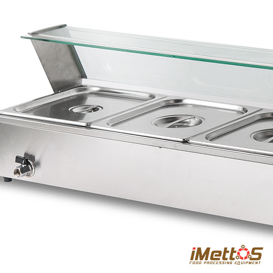 Imettos stainless steel electric bain marie for Cuisson four bain marie