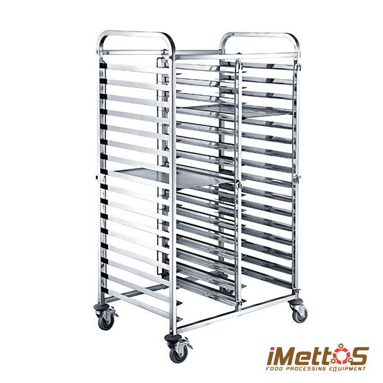 Imettos Stainless Steel Cake Cart Bread Cart Gn Pans