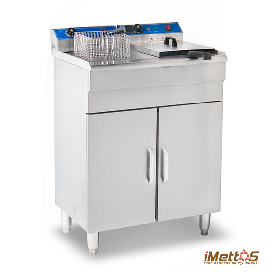 Electric Deep Fryer, Floor-style Double Tank  - Professional Kitchen Equipment