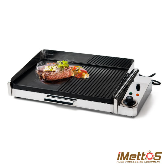Indoor Table Top Electric Griddle And Grill With Non Stick Hot Plate