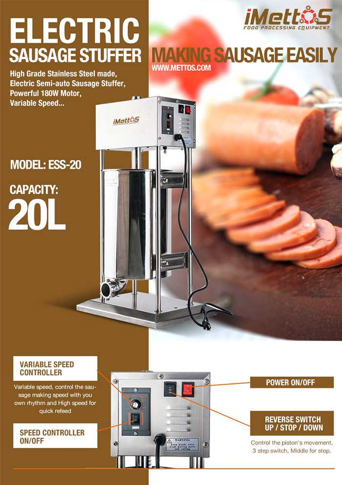 Imettos New Equipment Electric Sausage Stuffer With
